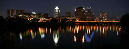 A very pretty night in Austin, Texas. Stock Photo