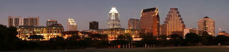 A very pretty night in Austin, Texas. Imagens