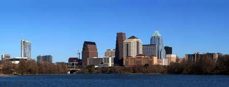 The downtown austin texas skyline on a clear sunny day. Stock Photo