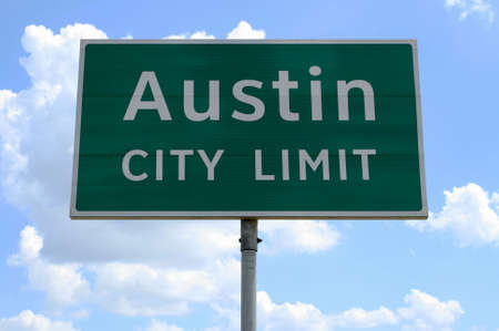 An Austin City Limit road sign close up.