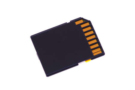 an SD memory card isolated on a white background photo