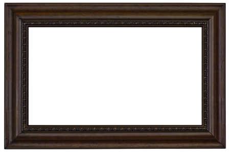 En bois photo frame frontière isolé sur un fond blanc Banque d'images - 4163668