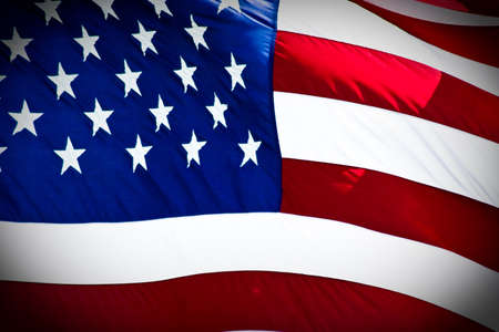 an american flag boldly flying in the wind Stock Photo - 7765217