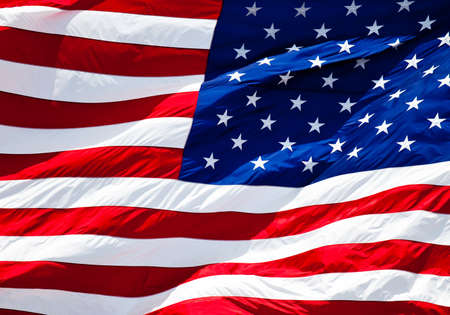 an american flag boldly flying in the wind Stock Photo - 7765220