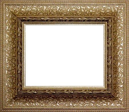 Bordure de cadre photo en bois isolé sur un fond blanc  Banque d'images - 7765307