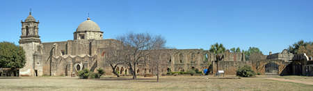 A pano of Mission San Jose in San Antonio Texas Imagens - 7765332