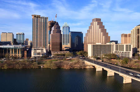 a nice clear day by the lake in downtown Austin Texas Imagens - 7738226