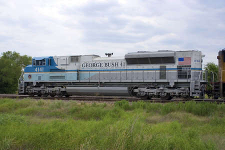 The George Bush Presidential Library and Museum train.
