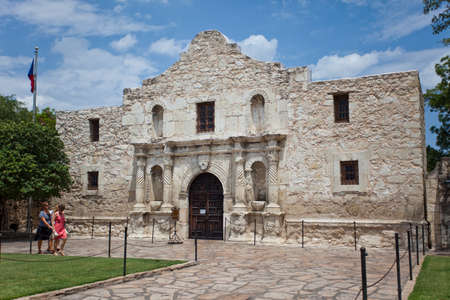 antonio: the front of the Alamo in San Antonio Texas
