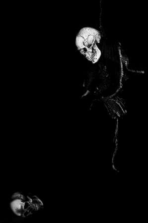 ploy: Rope Death. Skull. Stock Photo