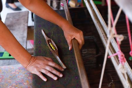 Weaving silk by hand made
