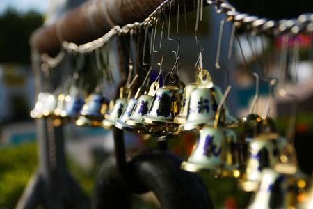 golden mini bells 写真素材