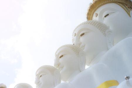 White Buddha and Sky