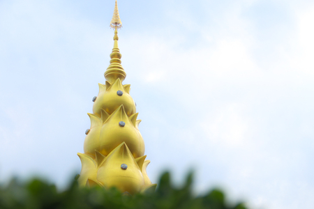 pagoda and the sky background 写真素材