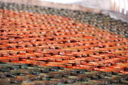 close-up of Clay roof