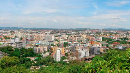 High angle view of Pattaya, Thailand
