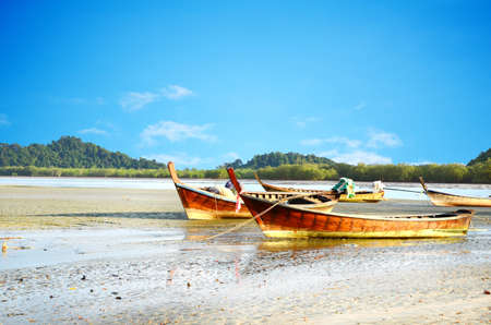 Fishing boat, Ranong Thailand. Stock Photo