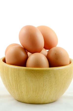 Organics Eggs  Stock Photo