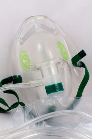 Oxygen mask with bag for emergency  photo