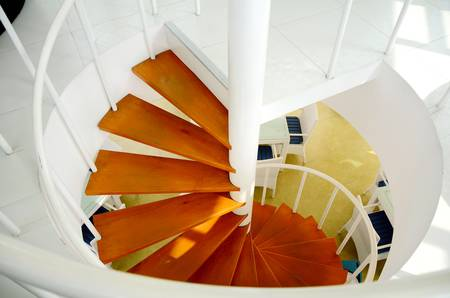 In-door Spiral Staircase  Stock Photo