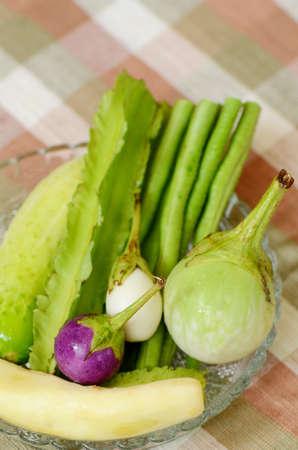 contorni: Contorni di verdura fresca in stile tailandese Archivio Fotografico