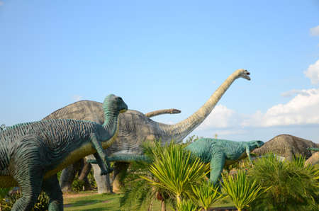 relentless: Public parks of statues and dinosaur bones at Phu-Kum-Khao in Kalasin province, northeast Thailand