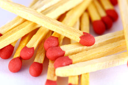 Matches in closeup shot photo