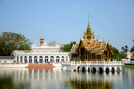 Thai style pavilion, Bang-Pa-In Palace at Ayudhaya province, Thailand
