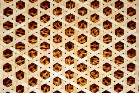枝編み細工の背景 写真素材
