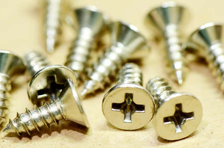 recessed: Different sizes of screws