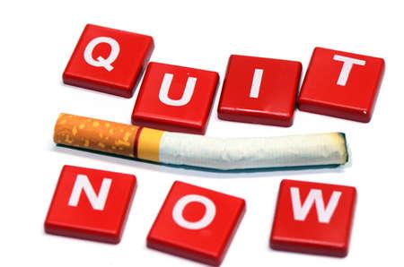 non toxic: Quit Smoking Now  Stock Photo
