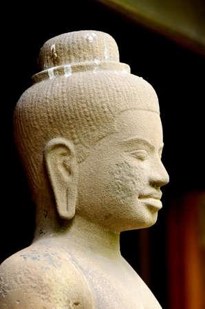 cambodge: Stone statue in Cambodian style