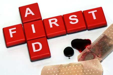 bloodstains: First Aid Sign
