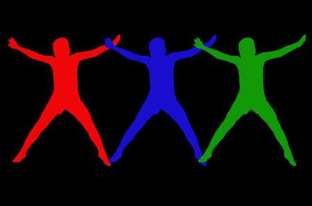 wavelengths: RGB man