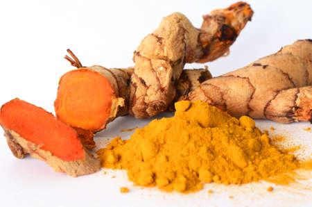 Tumeric powder and herbal medicine products Banco de Imagens - 23292022