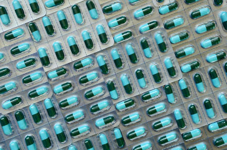 over lab: Colorful of oral medications in transparent strips