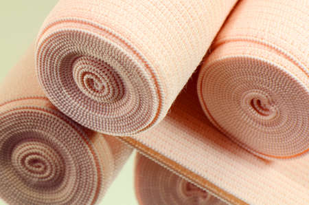 Elastic bandage roll for first aid