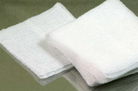 Stack of sterile gauze pad