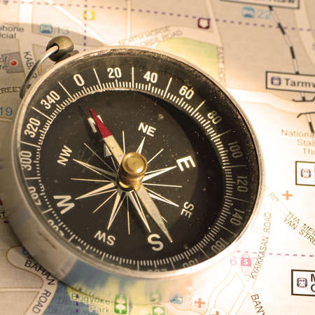 packer: An old compass and the travelling map guide