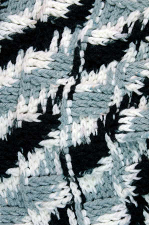Crochet Pattern in Black, Gray and White Color  photo