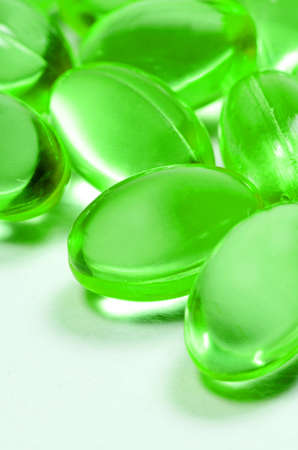 Oval shape of soft gelatin capsules photo
