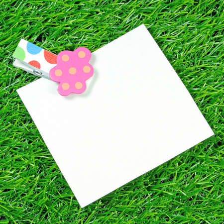 Note Pad on Artificial Turf  photo