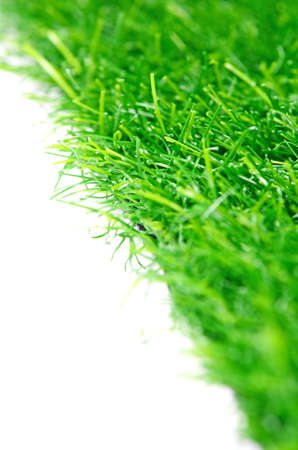 good quality: Good Quality Artificial Turf Isolated on White Background