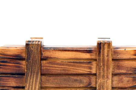 Designed Wood Frame Isolated on White Background