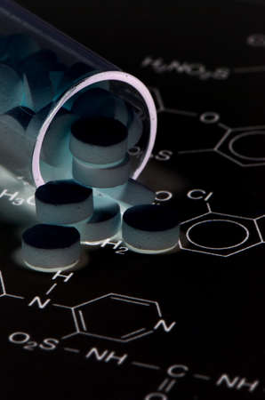drug discovery: Chemical Structure and Tablets of Certain Kind of Medicine in New Drug Discovery Concept and Pharmaceutical Technology