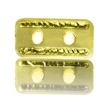 Emergency Contraceptive Pills, Morning-After Pills or Post-coital Pills Isolated on White Background with Clipping Path