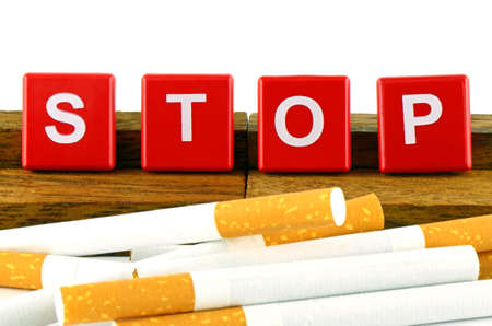 Quit Smoking Concept. Quit Smoking Now. No Smoking Campaign Banner isolated on White Background.