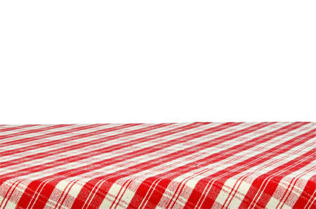 bbq picnic: Picnic table with tablecloth isolated on white background with clipping path.