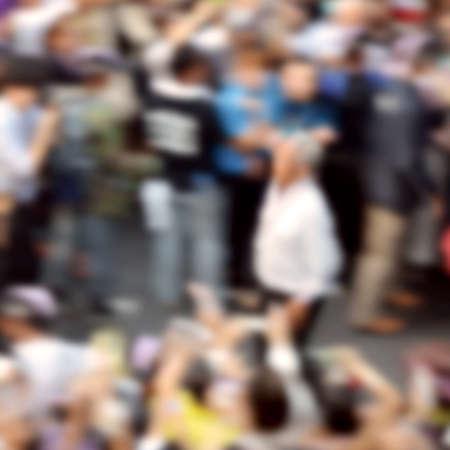 Blurred People background. Blurred Crowded background.