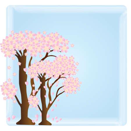 cherry blossom tree: Sakura Vector. Cherry Blossom Tree Vector.